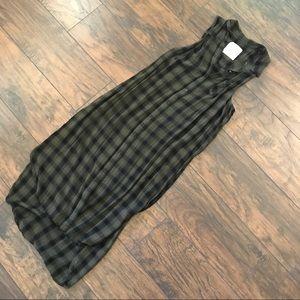 Sleeveless Button-Up Dress